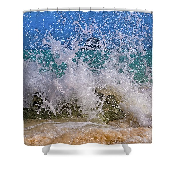 Whimsical Paradise Splash  Shower Curtain