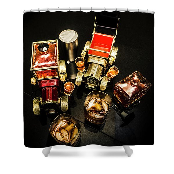 Whisky Wagons Shower Curtain