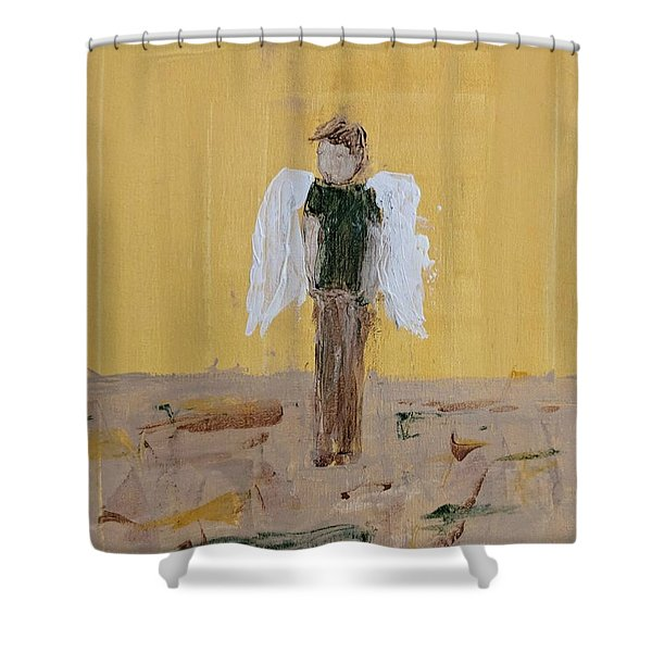 Whistling Angel Shower Curtain