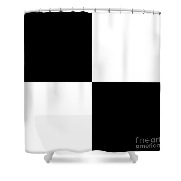 White And Black Squares - Ddh586 Shower Curtain