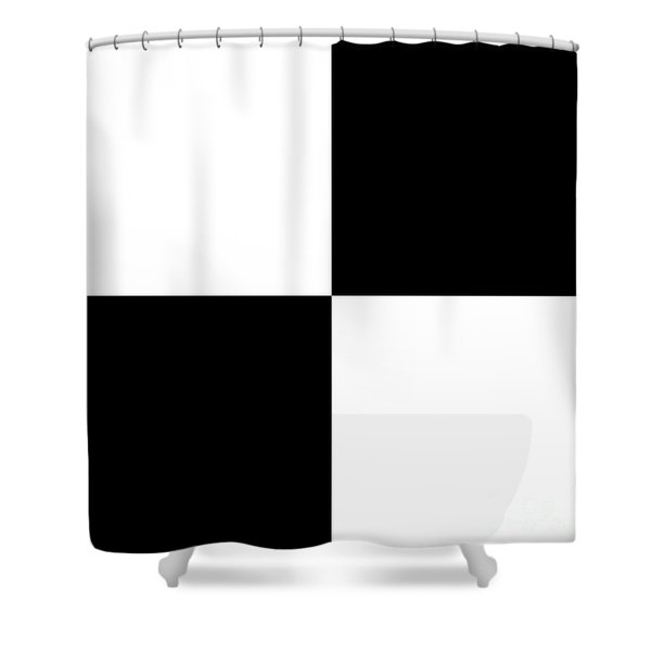 White And Black Squares - Ddh588 Shower Curtain