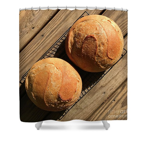 White And Rye Sourdough S's Shower Curtain