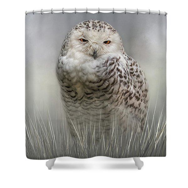 White Beauty In The Field Shower Curtain