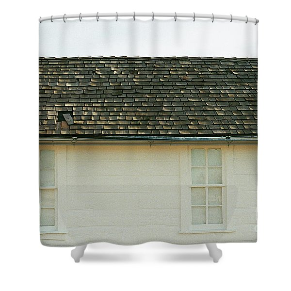 White Farmhouse Shower Curtain