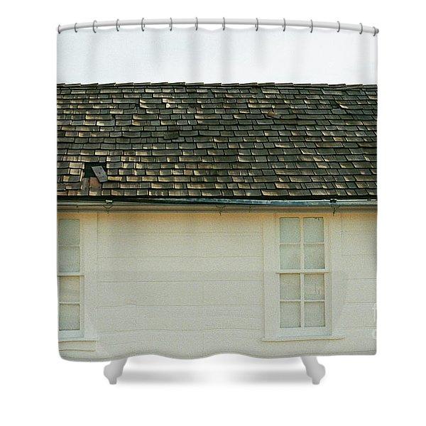 White Farmhouse Shower Curtain