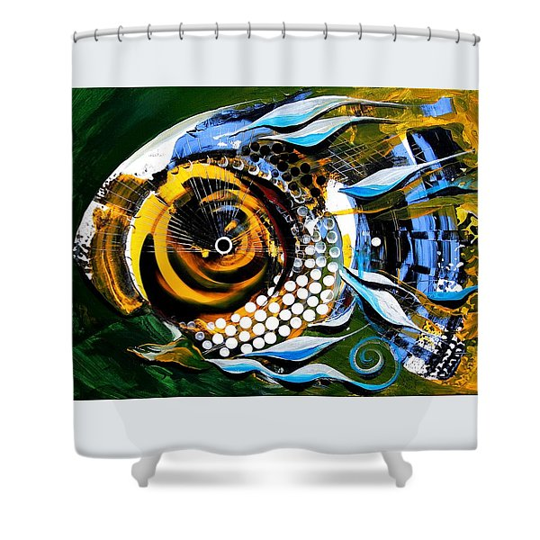 White-headed Mouth Fish Shower Curtain