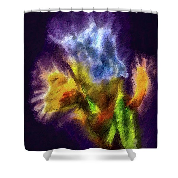 White Lily Bud #i0 Shower Curtain