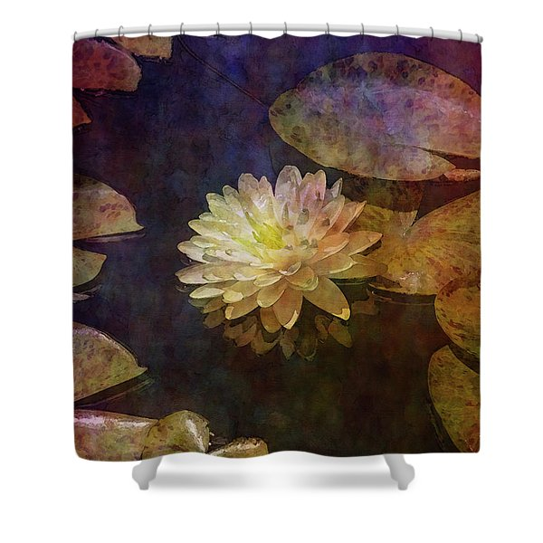 White Lotus Lily Pond 2938 Idp_2 Shower Curtain