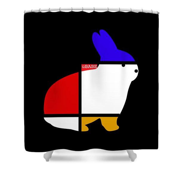 White Rabbit Shower Curtain