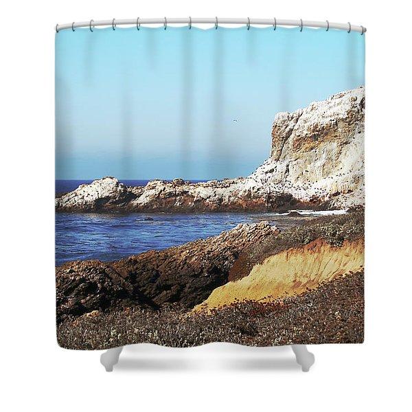 The White Rocks Of Piedras Blancas Shower Curtain