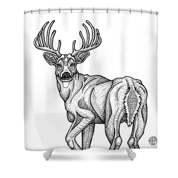 White Tailed Buck Shower Curtain