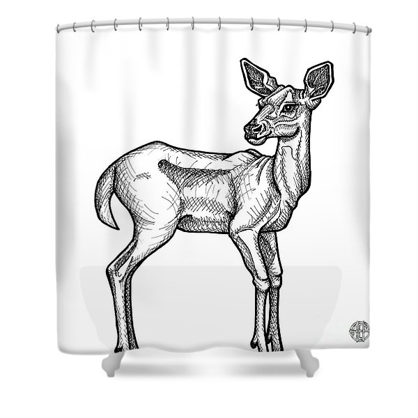 White Tailed Doe Shower Curtain