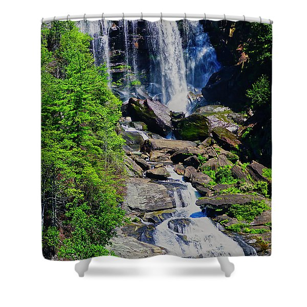 Shower Curtain featuring the photograph Whitewater Falls Top by Meta Gatschenberger