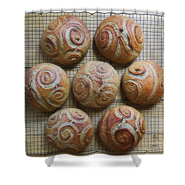 Whole White Wheat, Flax And Rye Sourdough X 7 Shower Curtain