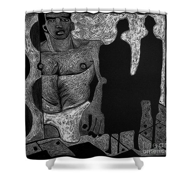 Viewing Madawask. Shower Curtain
