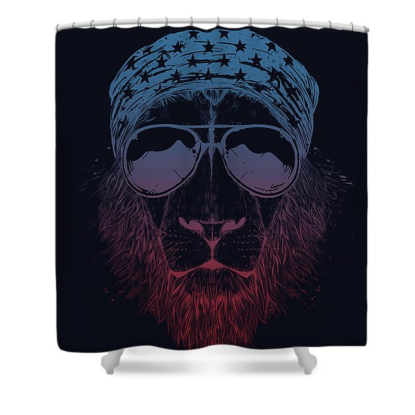 Wild Lion  Shower Curtain