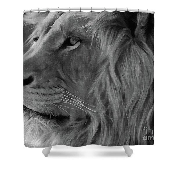 Wild Lion Face Shower Curtain