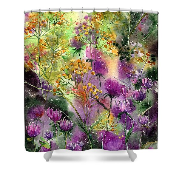 Wild Tansy Shower Curtain
