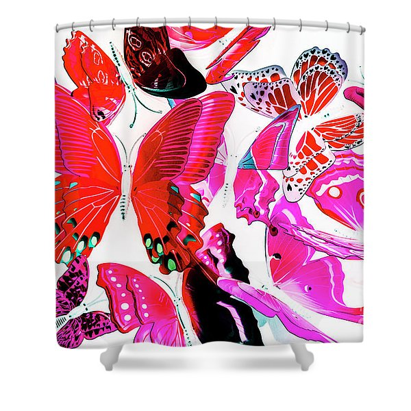 Wild Vibrancy Shower Curtain
