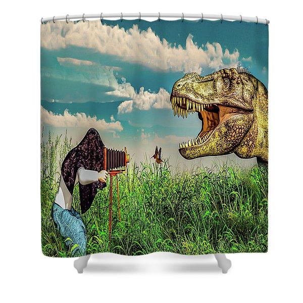 Wildlife Photographer  Shower Curtain
