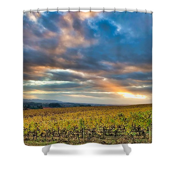 Willamette Valley In Fall Shower Curtain