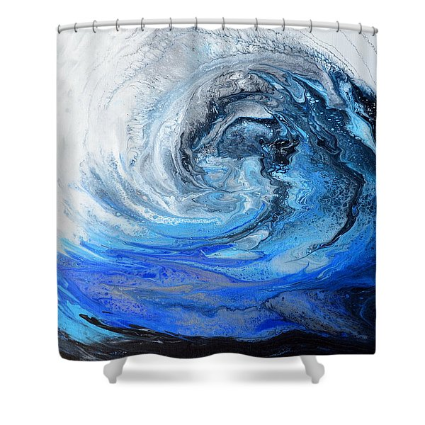 Wind And Wave Shower Curtain
