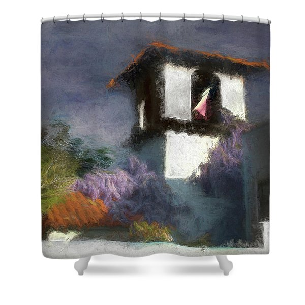 Wind In The Tower Washline Shower Curtain