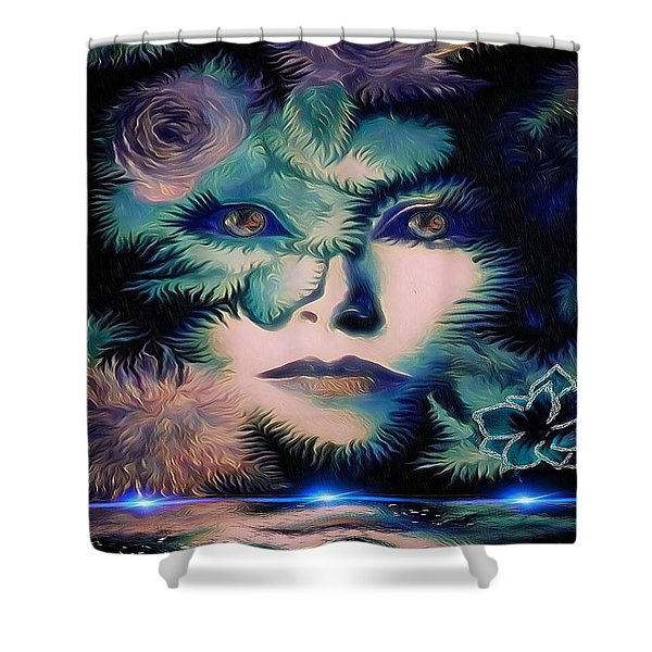 Winding Up Shower Curtain