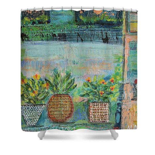 Window Box Shower Curtain