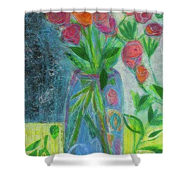 A-rose-atherapy Shower Curtain