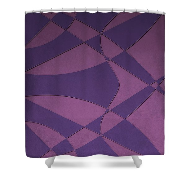 Wings And Sails - Purple And Pink Shower Curtain