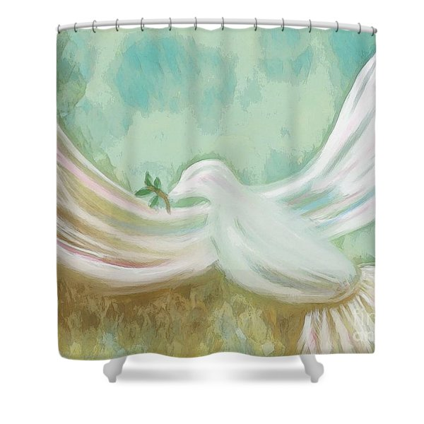 Wings Of Peace Shower Curtain