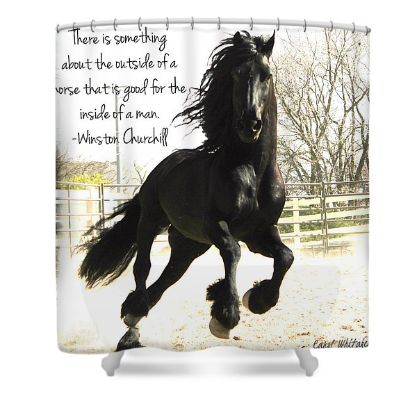 Winston Churchill Horse Quote Shower Curtain