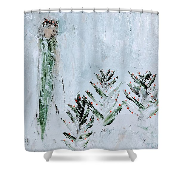 Winter Angel Shower Curtain