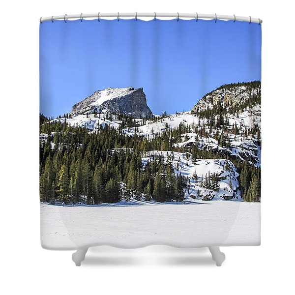 Shower Curtain featuring the photograph Winter At Notchtop Mountain by Dawn Richards