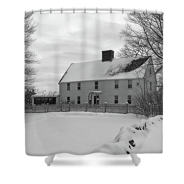 Winter At Noyes House Shower Curtain