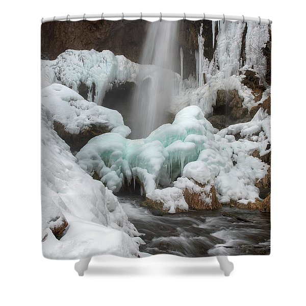 Winter At Rifle Falls Colorado Shower Curtain