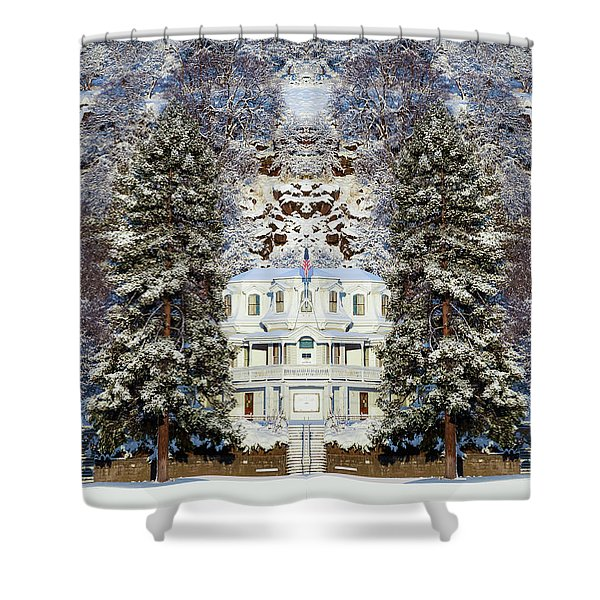 Winter At The Susanville Elks Lodge Shower Curtain