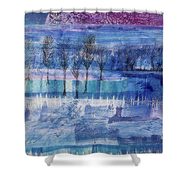 Winter Blues 1 Shower Curtain