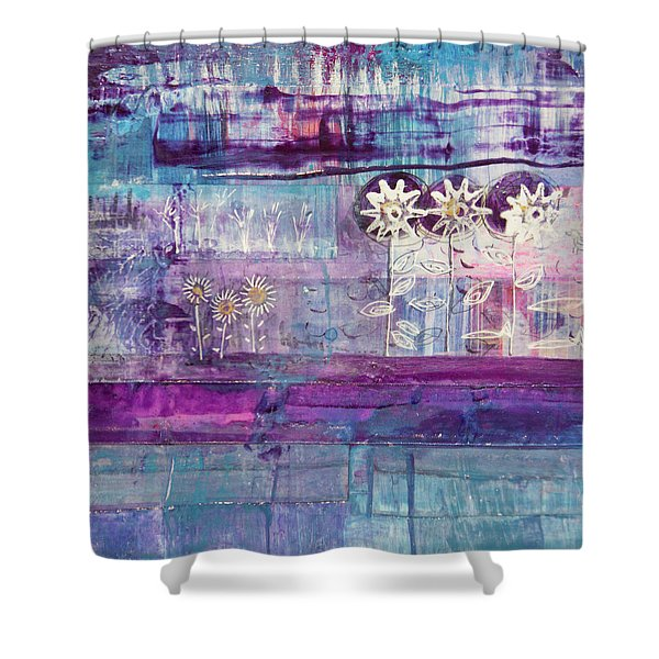 Winter Blues 2 Shower Curtain