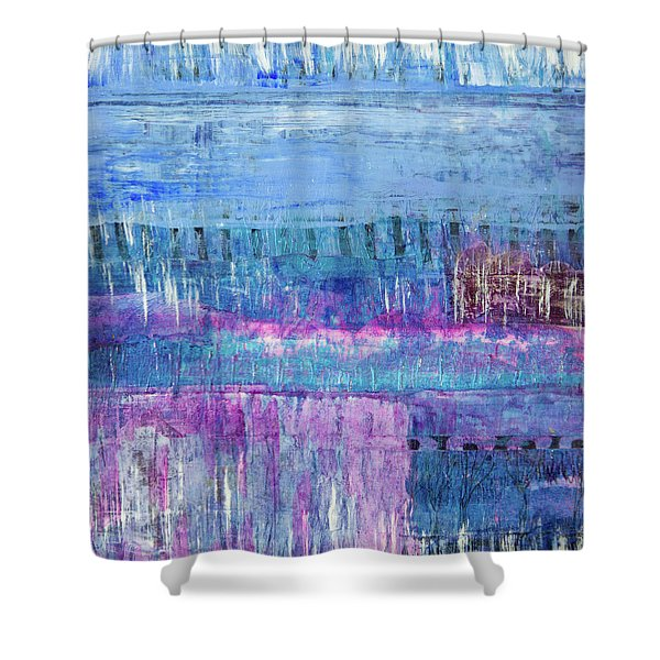 Winter Blues 3 Shower Curtain