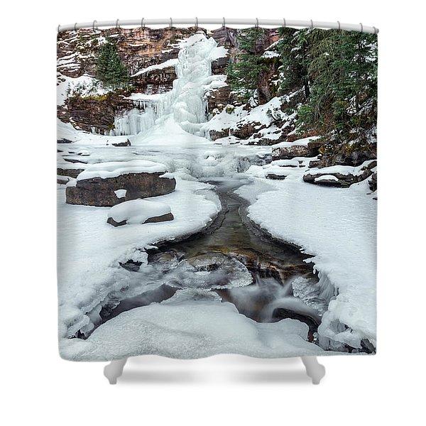 Winter Falls Shower Curtain
