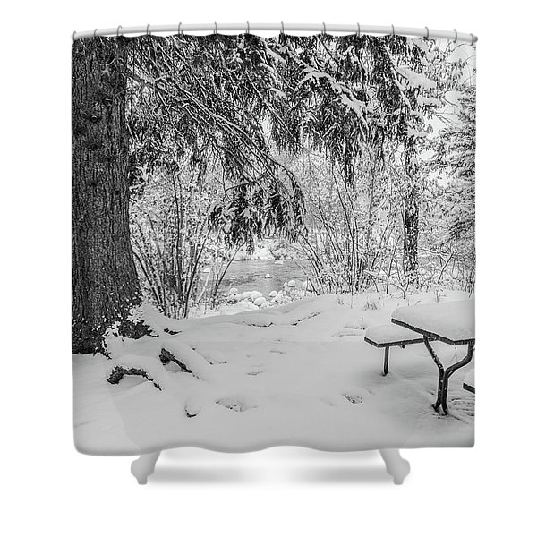 Winter Picnic Shower Curtain