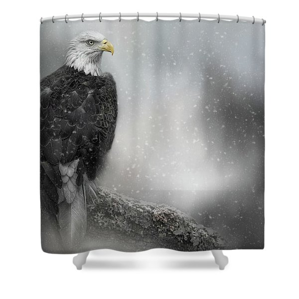Winter Watcher Shower Curtain