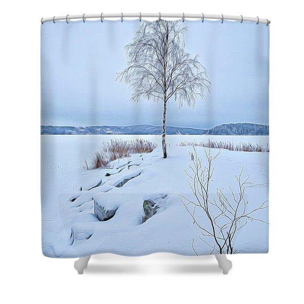 Winterland 10 Shower Curtain