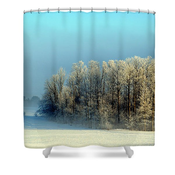 Winter's Heavy Frost Shower Curtain