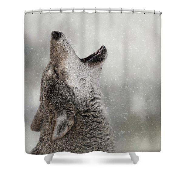Catching Snowflakes  Shower Curtain