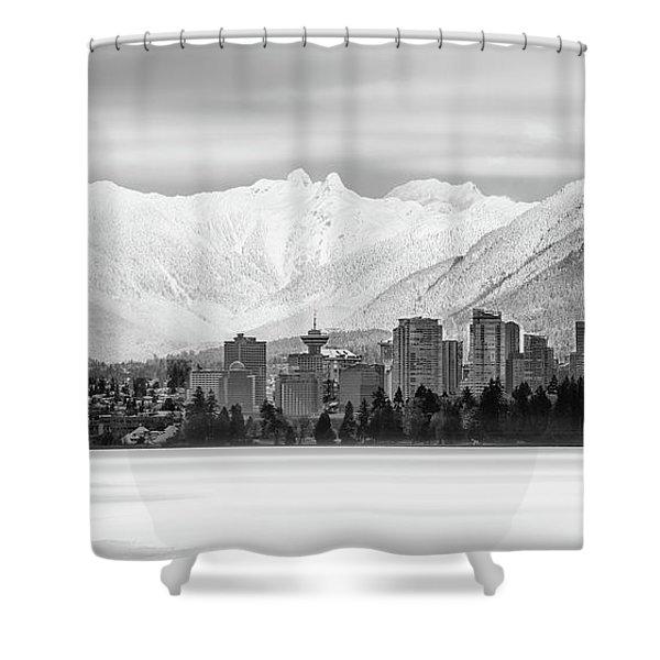 Winterscape Vancouver Shower Curtain