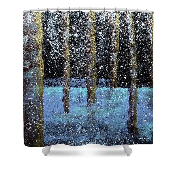 Wintry Scene I Shower Curtain
