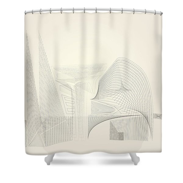 Wire Folly Complex Shower Curtain